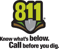 Call 811 - Know what's below. Call before you dig. (PA One Call)