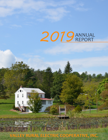 Valley REC 2019 Annual Report Cover